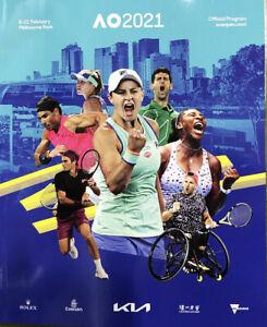 Australian Open Official Tennis Program Guide 2021