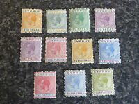 CYPRUS POSTAGE STAMPS SG85-95 VERY LIGHTLY MOUNTED MINT