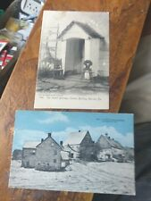 2 Old Postcards PA Ephrata The Cloister Buildings & Cloister Doorway