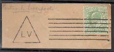 Edward VII - SG 218 Yellowish Green  - Machine Liverpool Cancel - On Paper