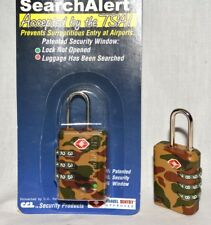 1 SearchAlert 3 dial combination Camo Camouflage TSA lock fits your luggage case