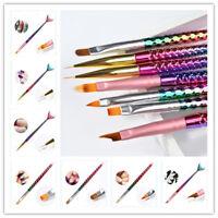 Stylo d'Art Acrylique UV Gel Nail Pinceau Sirène DIY Stylo de Peinture Art Pen