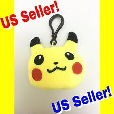 Pokemon Go Pikachu Head Plush Plus Keychain Backpack Hanger Cute