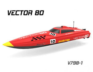 """31""""inch Vector80 ABS Hull Boat Ship ARTR 2.4Ghz Radio 55+mph Brushless Motor RC"""