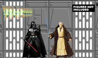 Star Wars Black Series Death Star Hallway 11X17 Diorama Backdrop (No Figure)