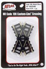 HO Scale 45-Degree Crossing (Code 100, Nickel Silver) - Atlas #174