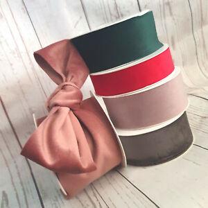 25,40,70mm Soft Velvet Ribbon. Vintage Colours. Wedding Floral Shabby Chic Red