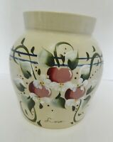 Marshall Pottery Yesteryears Fruit of the Spirit Love Large Canister Crazed