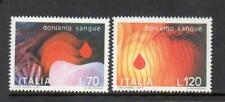 ITALY MNH 1977 SG1535-1536 GIVE BLOOD