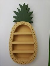 """Wooden Pineapple Decorative Figurine Wall Shelves 17"""" Hand Paint Country Decor"""