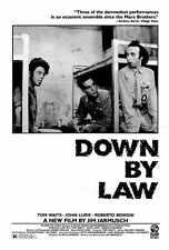 DOWN BY LAW Movie POSTER 27x40 John Lurie Tom Waits Roberto Benigni Ellen Barkin