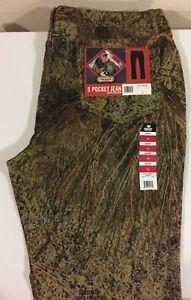 NWT Mossy Oak Brush 5 Pocket Camo Jeans with Stretch Women's Pants Size 18