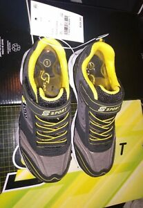 Sketchers S Sport LAPSE BOYS SNEAKERS - Black with Yellow  Size 1