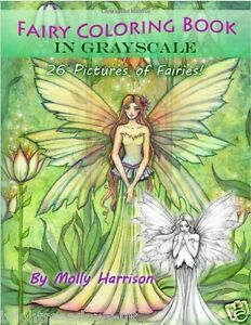 Greyscale Fairies Adult Colouring Book Fairy Grayscale Enchanted Magic Mystical