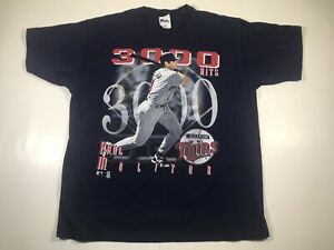 Rare Vintage 1996 Paul Molitor Pro Player 3,000 Hits Twins MLB HOF Shirt USA XL
