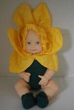 "Rare Anne Geddes 15"" Sunflower Flower Vinyl Baby Doll Adorable New Condition"