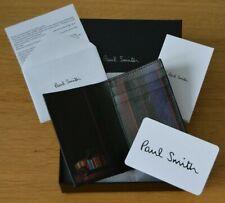 PAUL SMITH Striped Mini Car interior stripe signature black leather wallet