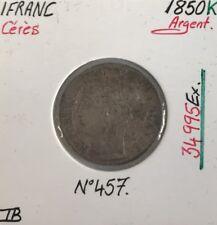 1 FRANC CERES - 1850K - Pièce de monnaie en Argent // TB
