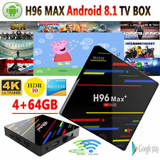 H96MAX+ Smart TV Box Dual WIFI Quad Core 4K 4G 64G Media Player Android8.1 H5J4A