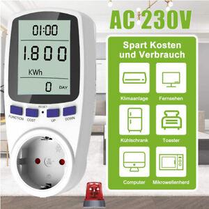 Leistungsmesser Wattmeter Stromzähler Steckdose Energiemonitor Stromverbrauch EU