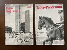 1936 Berlin Olympic Opening and Closing Ceremony Programs