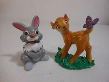 1980s Vintage Disney Bullyland Deer BAMBI & THUMPER Rabbit PVC Figures Germany