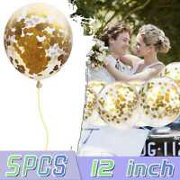 """Confetti Balloons Latex 12"""" Decorations Helium Birthday Party Wedding for Kids"""