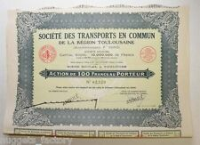 lot 10 Actions ancienne: Sté des transports en commun  Toulouse F.Pons ( 699a )