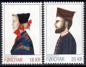 Faroe Islands 2018 National Costumes, Man & Woman, Set of 2, UNM / MNH