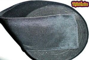 4 INCH WIDE - 100MM HIGH QUALITY WOVEN ELASTIC - AVAILABLE IN BLACK COLOUR