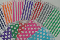 PAPER SWEET BAGS Candy Striped Polka Dot Sweet Wedding Favour Birthday Bags