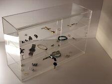 Jewelry Acrylic Display Showcase 21 14x7 12x13 14h Sliding Door 3 Shelves