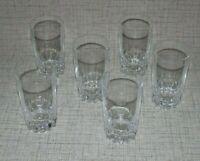 CB2-3b) 6x Glas Saft Cocktail Gläser wohl Bleikristall Bar Tasting Theke H10,8cm