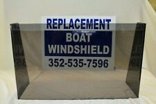 """21""""  ID wide center or side boat windshield,    16"""" high"""