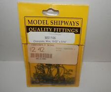 "Model Shipways Chainplate, Wire 19/32"" x 3/16"" #MS1106 NIP"