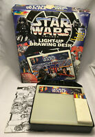 Vintage Star Wars Trilogy RoseArt Light Up Drawing Desk w/ Colored Pencils & Box