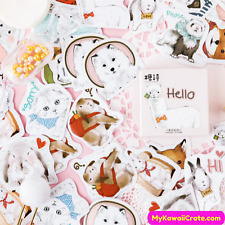 Adorable Pet Animals Stickers Pack ~ Funny Animals Alpaca Otter Cat Dog Stickers
