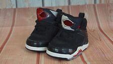 NIKE AIR JORDAN 365165 061 Baby 60 Sixty Plus Black Athletic Shoes Sz. 2 C Used