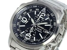 Seiko Mens Chronograph Solar 100m Watch SSC075 SSC075P1 Warranty, Box, RRP:£330