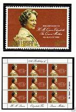 SAMOA 1980 QUEEN MOTHER 80th STAMPS & SOUVENIR SHEET MNH
