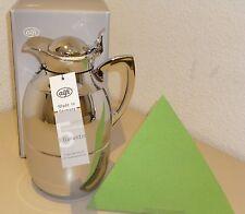 alfi Isolierkanne Juwel 1,0 Liter Messing verchromt Thermoskanne 1 Liter silber