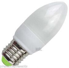 10 x WARM WHITE CANDLE LIGHT BULB ENERGY SAVING 11w ES E27 60W EDISON SCREW CAP