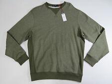 Mens shirt Cremieux Classics Olive Long Sleeve Thick Knit Crewneck Top  X-Large