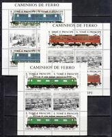 Saint Thomas And Prince - Mail Yvert 909/14 Minipliegos MNH Trains