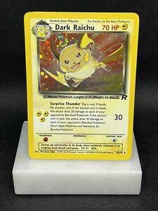 2000 Pokemon Team Rocket Holo Dark Raichu #83/82 🌀 SWIRL 🌀 LP Holo Rare