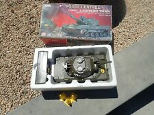 Asahi Radio Control Leopard Tank Battery Operated Toy Tank Japan Working W/ Box