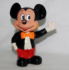 Vintage Mickey Mouse Bank Standing Figure Plastic Walt Disney Productions Korea