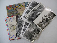 Lot of 38 Postcards San Francisco Hollywood Redwood Highway Sequoia B/W Photos