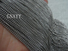 GNAYY 5meter stainless steel 2mm tiny Link chain Jewelry Finding Chain Marking
