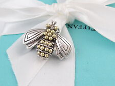 TIFFANY & CO SILVER GOLD BUMBLE BEE BROOCH PIN BOX INCLUDED